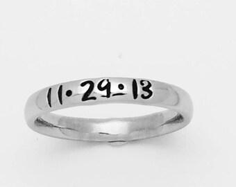Stacking ring, Personalized Stacking ring, Name ring, custom name ring, custom stacking ring, hand stamped ring, personalized wedding ring