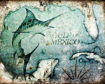 """Gulf of Mexico // Metal Sign // 12"""" x 16"""""""