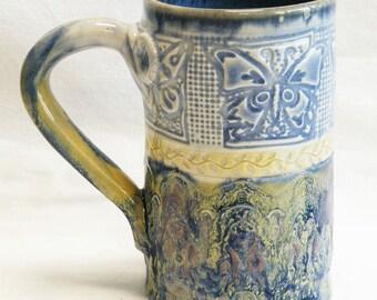 Stoneware 16oz. butterfly ceramic mug 16D066