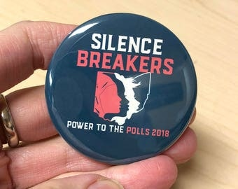 Women's March Button/ Power To the Polls Button/ Women's March Ohio/ Official Women's March Button/ Feminist Pin/ Pins/ Feminist Button