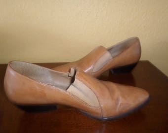 Ladies LOAFERS/DOLCIS/LEATHER/Brazil/Vintage/Size 8M