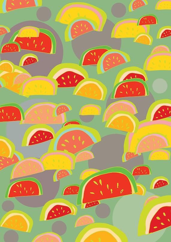 Tropical  A3 wall art Print.Botanical  Poster Illustration. wall decor.gift