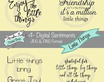 We Are 3 Digital Shop - Sentiments - Little Things, Friendship, Grateful