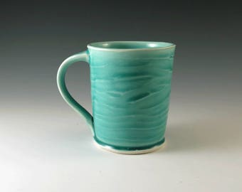 Handmade Ceramic Mug - Turquoise Pottery Mug - Coffee Mug - Coffee Cup - Tea Cup - Tea Mug - Pottery and Ceramics - Blue Coffee Cup - M228
