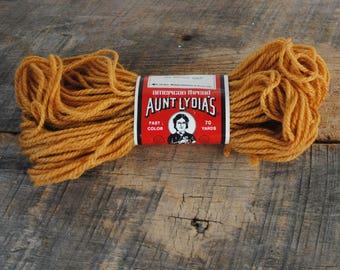 Vintage Aunt Lydia's Antique Gold 565 Heavy Rug Yarn  70 Yard