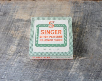 Vintage Singer Stitch Patterns Set For Automatic Zigzagger