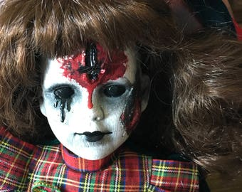 creepy doll. OOAK art doll, Halloween haunted house prop