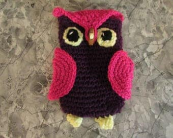 Owl cell phone case or holder