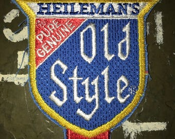 Heileman's Old Style Beer Vintage Novelty Patch