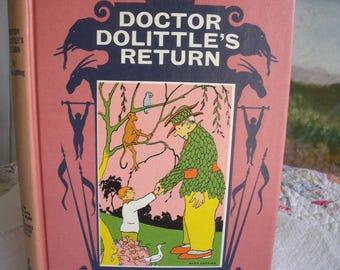 Doctor Dolittle's Return Hardcover Vintage 1961 Edition