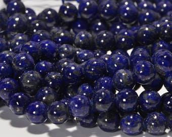 "Lapis Lazuli  6.3mm 16"" inch Strand Natural Gemstone Beads Bead Supplies Jewelry Making Supplies"
