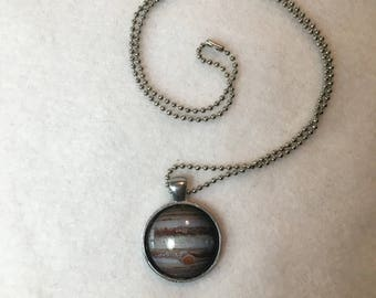 Jupiter Pendant Necklace - Planets - Space - Solar System - Neighbors - Science - Handmade - Custom - Geek - Big Bang - Christmas in July