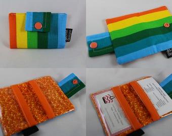 Business Card Wallet, Card Wallet, Business Card Holder, Wallet Card Case, Fabric Card Case, Fabric Wallet, Card Case