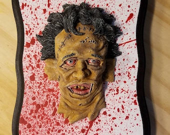 Leatherface Wall Hanging Sculpture Plaque