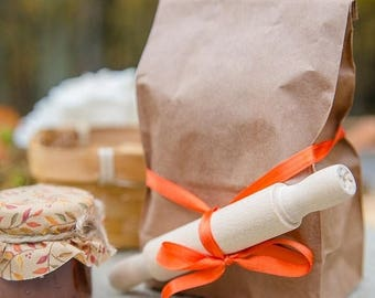 Bag of Biscuit Mix with Wooden Rolling Pin Wedding Favor, Southern Biscuit Mix Wedding Favor for Rustic Country Style Wedding