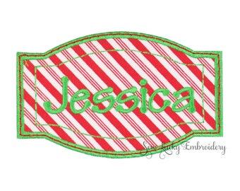 Christmas Stocking Name Patch - Stocking Name Patch - Personalized Name Patch - Iron on Name Patch - Custom Name Patch - Personalized