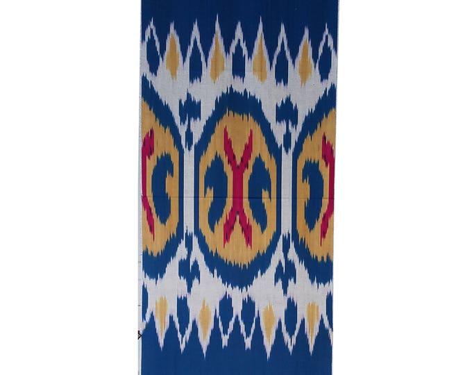 Sale! Ikat Fabric, Ikat Fabric by the yard, Hand Woven Fabric, Cf103