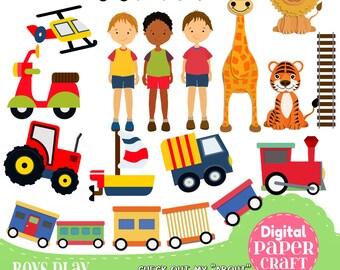 Boys Toys Clipart, Children Clipart, Kids Clipart, Train clipart, Truck  clipart, Clipart, Handrawn Clipart, Transport clipart, zoo Clipart