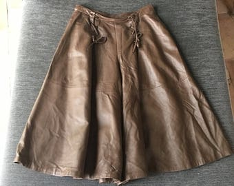 Valentino leather culotte pants 1980s