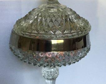 Crystal Cut Glass Candy Dish