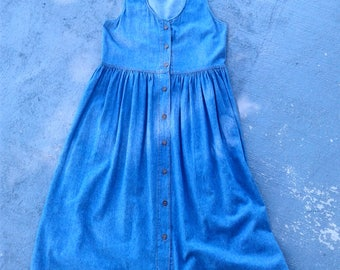 90s Denim Jumper Maxi Dress