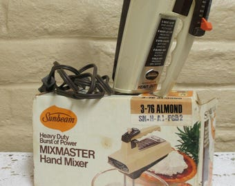 Sunbeam Mixmaster Hand Mixer - Vintage Hand Mixer