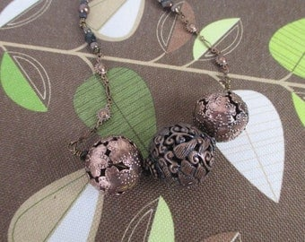 BRASS & COPPER Bauble Necklace, 20 inches