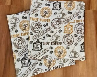 UnPaper Kitchen Towels Coffee Flannel and Terry Cloth Set of 10