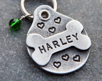 Dog Christmas Stocking Stuffer - Personalized Dog Tags for Dogs - Custom Dog Tag for Collar - Dog ID Tag - Dog Name Tag - Dog Mom Gift