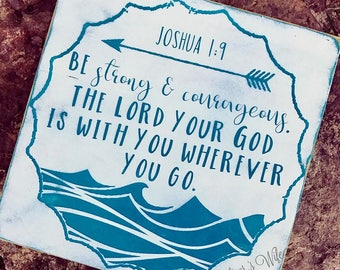 Joshua 1:9 Waves