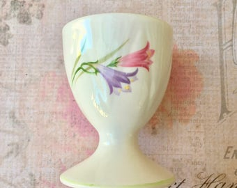"""Pretty Vintage Porcelain Egg Cup Signed """"Shelley""""-Freesia Pattern"""