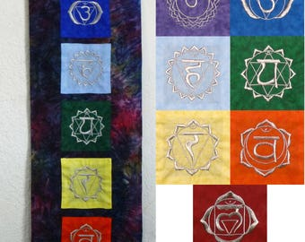 Embroidered Chakra Hanging