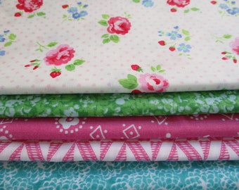 Quilting Fabric Bundle, Lakehouse, LH 14019B, Fabric by the Yard,  1/2 Yard Fabric Bundle, Total 2 Yards