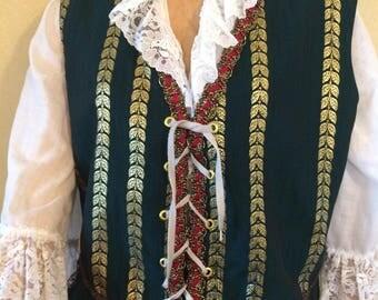 Renaissance male Halloween costume Medieval Adult Male Doublet  Renaissance Fair Medieval Clothing Fantasy  M L