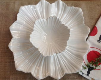 FREE SHIPPING Whittier California Pottery Chip and Dip Plate and Bowl Beautiful Two Piece Pet