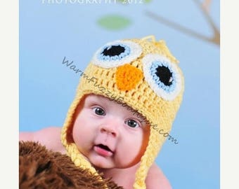 SUMMER SALE Baby Chick Hat - Newborn Beanie Boy Girl Costume Halloween  Photo Prop Christmas Gift Summer Outfit