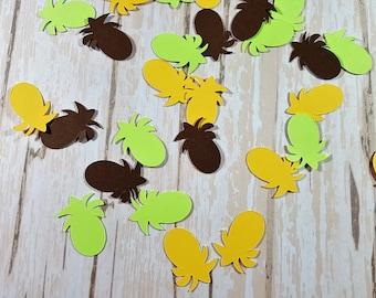 Pineapple die cut confetti, scrapbook embellishments, Tropical, Beach, Mix and Match