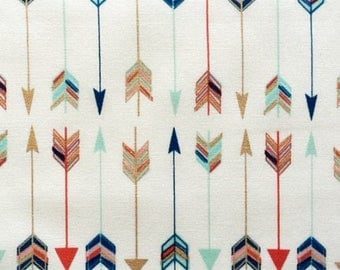 Arrow Feather Fabric, multi colored feather fabric, by the yard
