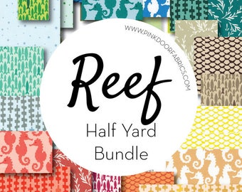 Reef - Elizabeth Hartman for Robert Kaufman Fabrics - HALF YARD BUNDLE