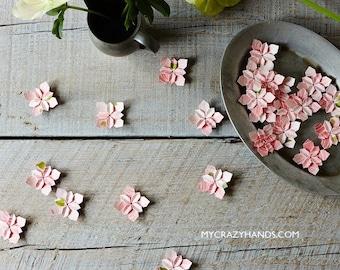 200 wedding petals | bridal shower decors | wedding flowers | origami flowers | wedding favors | paper flowers -pink roses