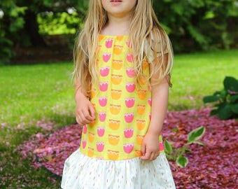 Girl Peasant Dress, Toddler Peasant Dress, Floral Girl Dress, Floral Toddler Dress, Little Girl Dress, Girls Floral Dress