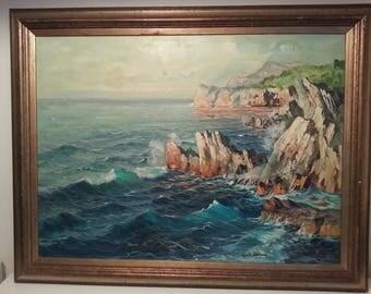 Capri Seascape Oil Painting by Guido Odierna