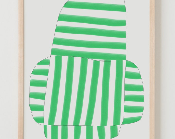 Fine Art Print.  Stripe Study Emerald, August 23, 2017.