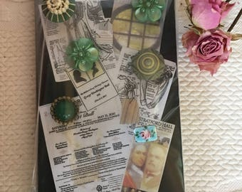 Handmade Button Tacks. Fancy Tacks With Button Tops for Your Bulletin Board. Fancy BUTTON UPS.  Tacks in Style.