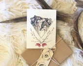 Wolf Love- Reserved for Julia - 25 cards with envelopes