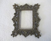 Metal Vintage ornate rectanglarFrame no backing or glass made in Italy