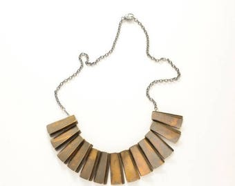 40% OFF // wave Necklace // Bronze