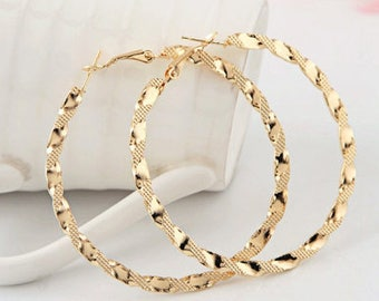 Jewelry#11 Earrings Fashion Exaggerated Ruili Fashion Boutique Hoop Gold Earring For Women