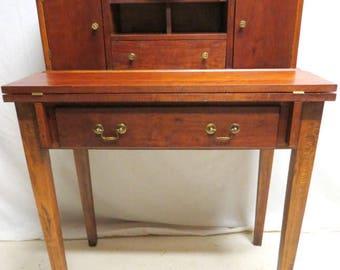 antique cherry drop front desk secretary huntboard