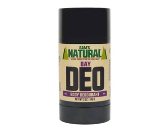 Sam's Natural - Bay Natural Deodorant for Men - Gifts for Men - Natural, Vegan + Cruelty-Free
